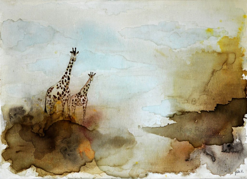 giraffe painting