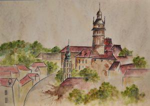 watercolor painting czech republic