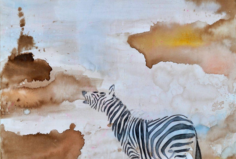 zebra painting
