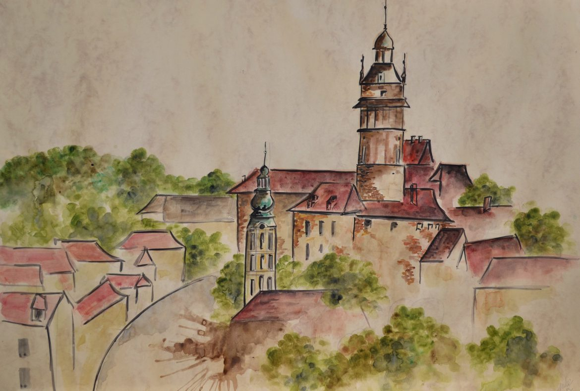 watercolor painting czech republic