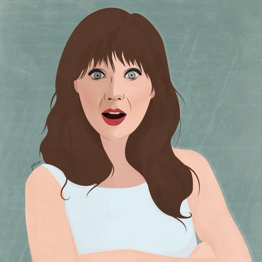 Zooey Deschanel Illustration Juliero